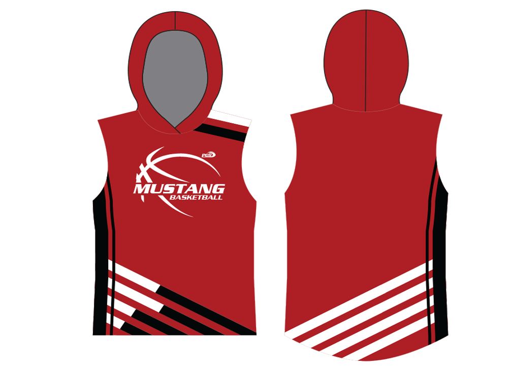 Sublimated Sleeveless Basketball Shooter Shirt with Hoodie