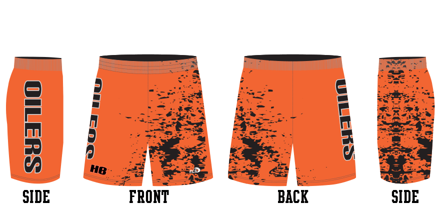Sublimated 8-Inch Tight-Fit Wrestling Shorts