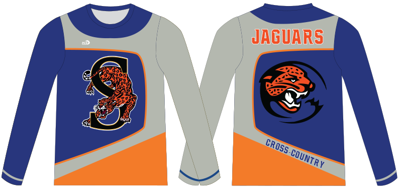 Sublimated Long-Sleeve Basketball Warm-up Shirts With Crew Neck