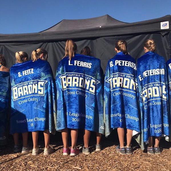 Sublimated Team Sports Blankets