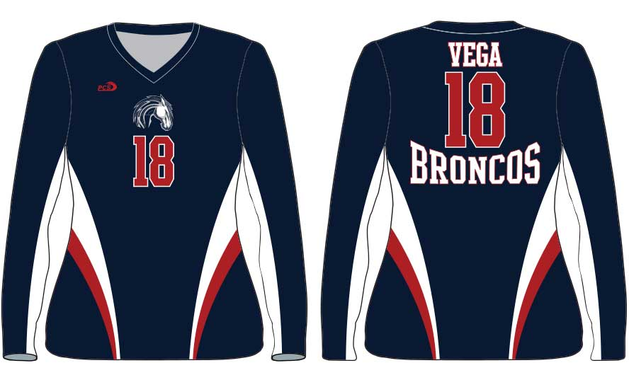 Women's Long Sleeve Tight-Fit Sublimated Lycra Volleyball Uniforms