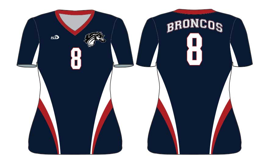 Women's Short Sleeve Tight-Fit Sublimated Lycra Volleyball Uniforms